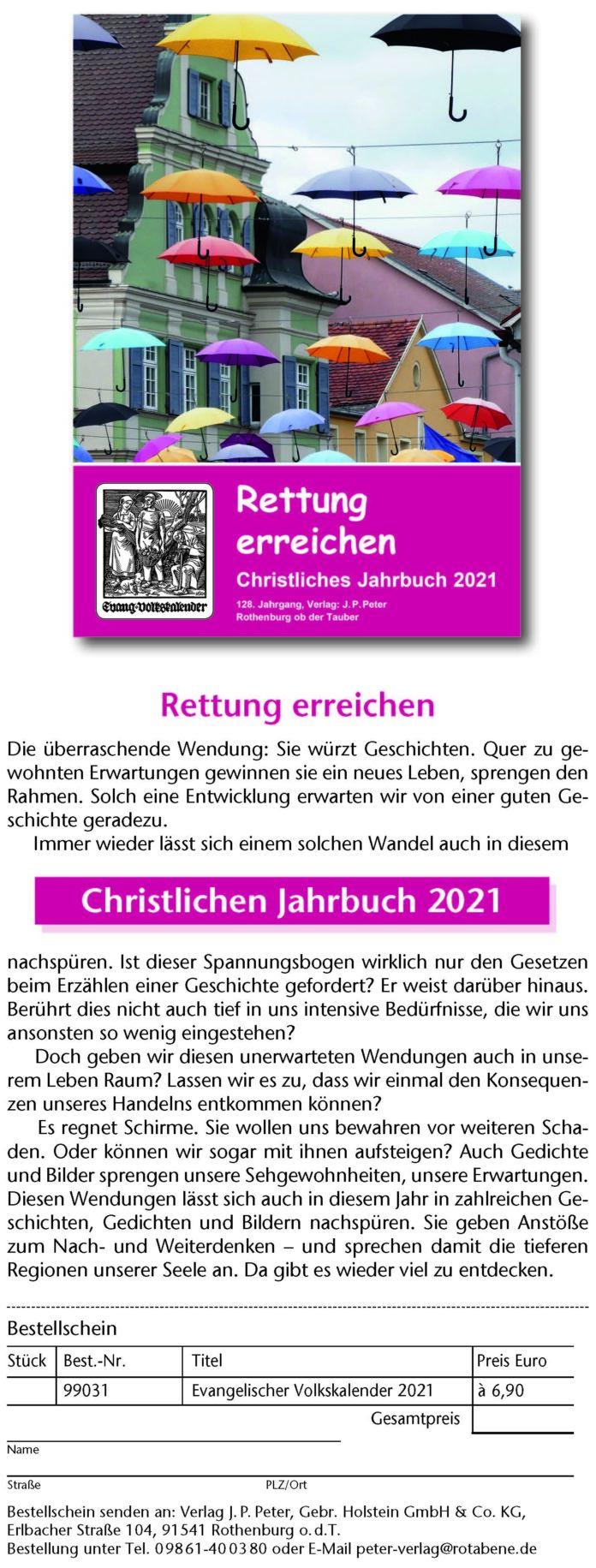 Christliches Jahrbuch 2021