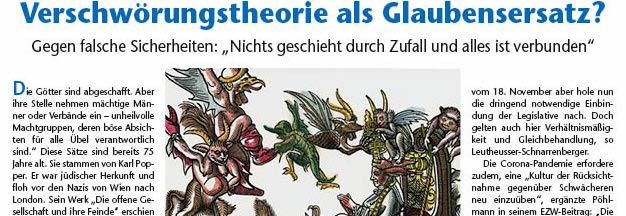 """Gegner als Dämonenfürst: Anti-Papst-Holzschnitt Cranachs 1545 (Detail, später koloriert) mit """"Strippenzieher"""" hinter dem Papst.Bild: akg"""