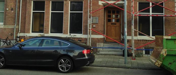 Das Amsterdamer Gemeindezentrum während der Renovierung. Foto: DEG