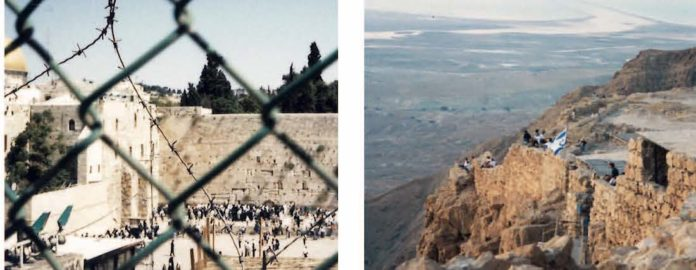 Bauten des Herodes als Bollwerke: Klagemauer als Westmauer des Tempelneubaus und Massada mit Blick auf das Tote Meer. Fotos: Archiv Borée