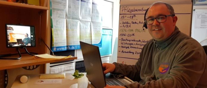 Beratungsgespräche von Pflegeberater Markus Oppel laufen sehr erfolgreich