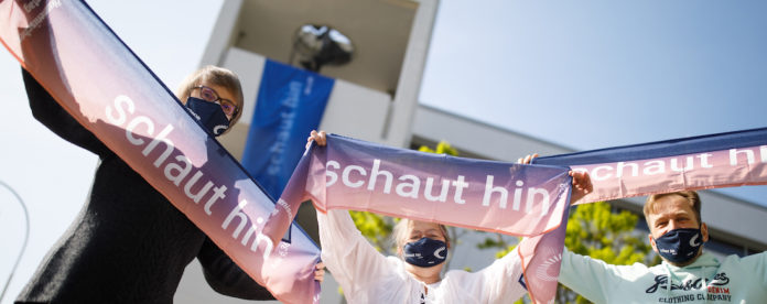 """""""Schaut hin"""" war das Motto des 3. Ökumenischen Kirchentages, der digital aus Frankfurt übertragen wurde.Foto: ÖKT/Bongard"""