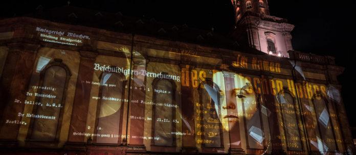 Porträt von Sophie Scholl für Multimedia-Schau zum Gedenken an Luthers Auftritt auf dem Reichstag zu Worms